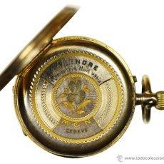 Relojes de bolsillo: ** MAGNÍFICO RELOJ DE BOLSILLO DE ORO 18K CYLINDRE GENEVE CON 8 RUBIS, FUNCIONANDO PERFECTAMENTE **. Lote 46693438