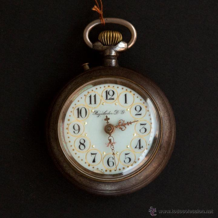 PRECIOSO RELOJ DE BOLSILLO REGULADOR DG (Relojes - Bolsillo Carga Manual)