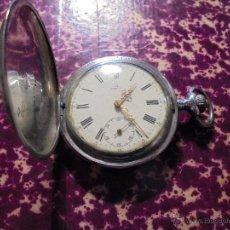 Relojes de bolsillo: ANTIGUO RELOJ OMEGA DE PLATA 3 TAPAS FUNCIONANDO .7X5 CM. ESFERA DE PORCELANA VER. Lote 46816996