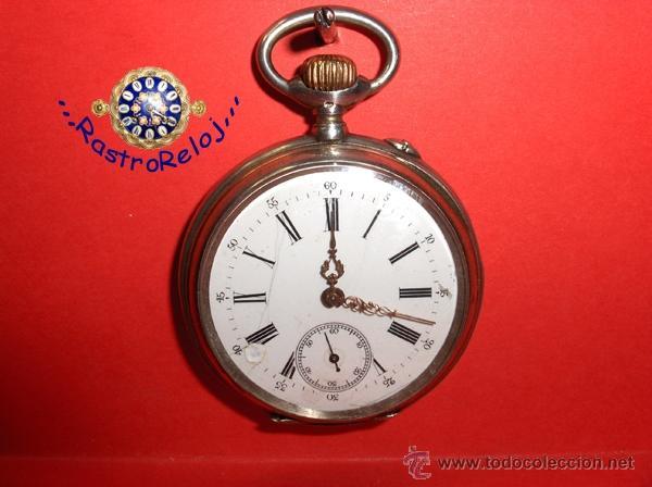 ,,,SISTEMA GLASHUTTE,,, PLATA DOS TAPAS ( B- 10 ) (Relojes - Bolsillo Carga Manual)