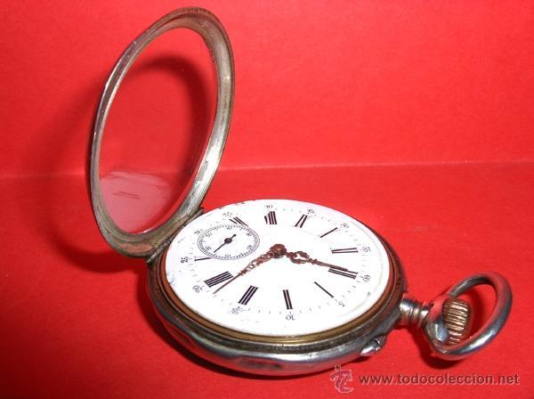 Relojes de bolsillo: ,,,SISTEMA GLASHUTTE,,, PLATA DOS TAPAS ( B- 10 ) - Foto 2 - 46872203