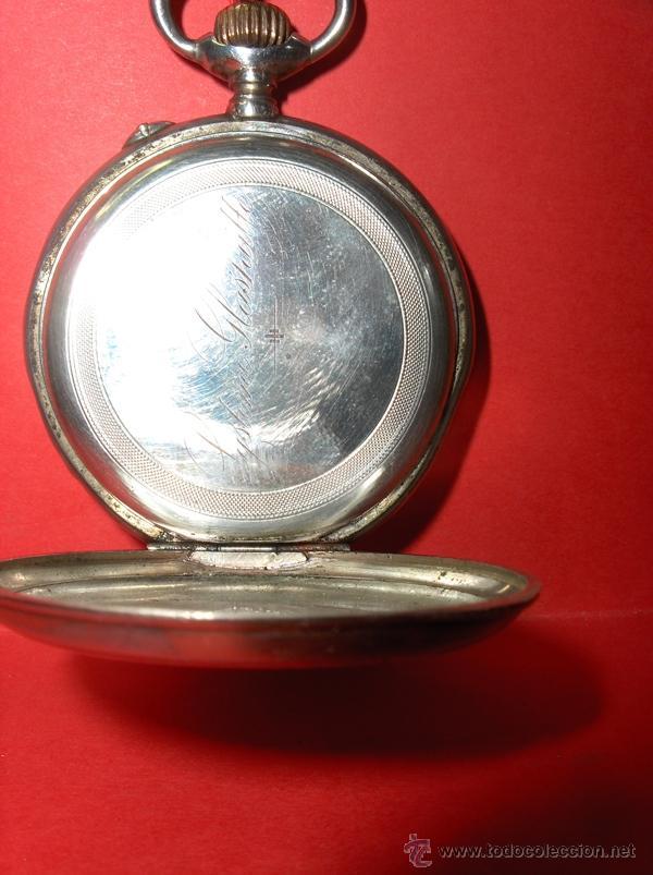 Relojes de bolsillo: ,,,SISTEMA GLASHUTTE,,, PLATA DOS TAPAS ( B- 10 ) - Foto 5 - 46872203