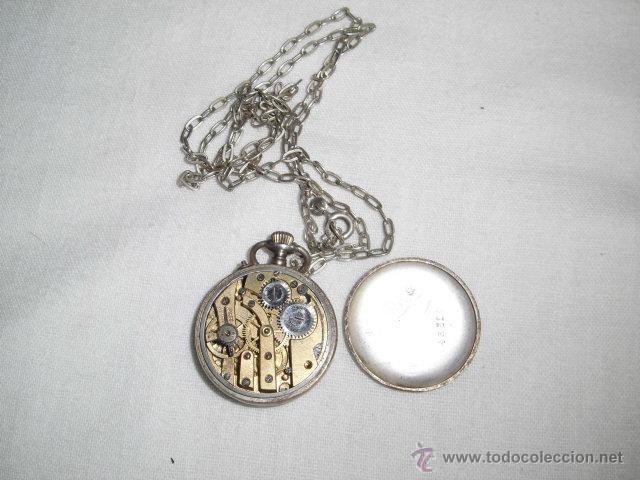 ANTIGUO RELOJ DE PLATA DE SEÑORA PARA COLGAR NO FUNCIONA (Relojes - Bolsillo Carga Manual)