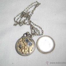 Relojes de bolsillo: ANTIGUO RELOJ DE PLATA DE SEÑORA PARA COLGAR NO FUNCIONA. Lote 46951071