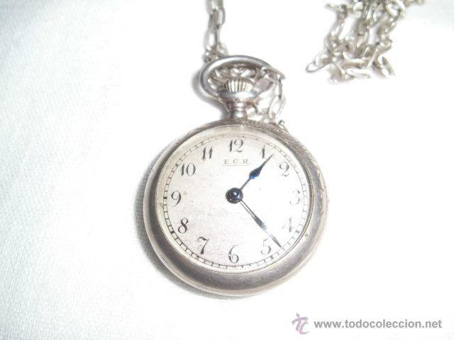 Relojes de bolsillo: ANTIGUO RELOJ DE PLATA DE SEÑORA PARA COLGAR NO FUNCIONA - Foto 6 - 46951071