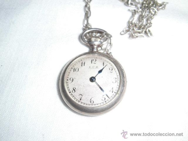 Relojes de bolsillo: ANTIGUO RELOJ DE PLATA DE SEÑORA PARA COLGAR NO FUNCIONA - Foto 7 - 46951071