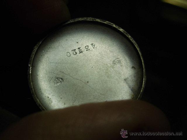 Relojes de bolsillo: ANTIGUO RELOJ DE PLATA DE SEÑORA PARA COLGAR NO FUNCIONA - Foto 8 - 46951071