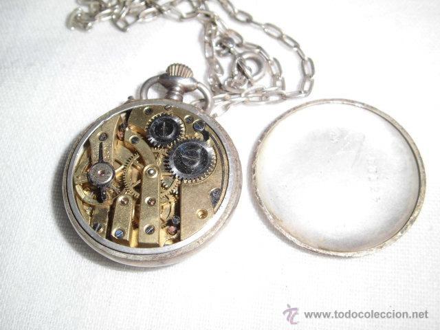 Relojes de bolsillo: ANTIGUO RELOJ DE PLATA DE SEÑORA PARA COLGAR NO FUNCIONA - Foto 10 - 46951071