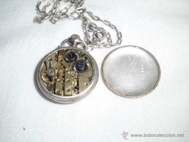 Relojes de bolsillo: ANTIGUO RELOJ DE PLATA DE SEÑORA PARA COLGAR NO FUNCIONA - Foto 11 - 46951071