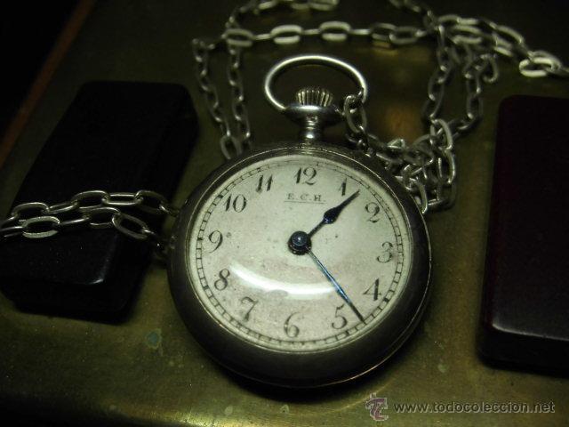 Relojes de bolsillo: ANTIGUO RELOJ DE PLATA DE SEÑORA PARA COLGAR NO FUNCIONA - Foto 12 - 46951071