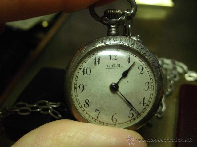 Relojes de bolsillo: ANTIGUO RELOJ DE PLATA DE SEÑORA PARA COLGAR NO FUNCIONA - Foto 13 - 46951071