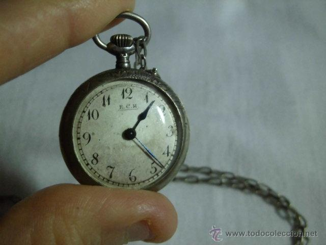Relojes de bolsillo: ANTIGUO RELOJ DE PLATA DE SEÑORA PARA COLGAR NO FUNCIONA - Foto 14 - 46951071