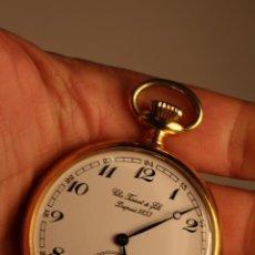Relojes de bolsillo: RELOJ DE BOLSILLO CHAPADO ORO TISSOT & FILS DEPUIS 1853 SWISS MADE PERFECTO FUNCIONANDO. Lote 47184017
