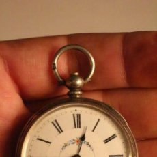 Relojes de bolsillo: RELOJ DE BOLSILLO PLATA 0.935 DE LLAVE CAJA DECORADA . Lote 47210795