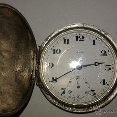 Relojes de bolsillo: RELOJ LANCO DE PLATA 800 EN FUNCIONAMIENTO. Lote 47406002