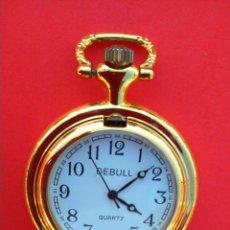Relojes de bolsillo: RELOJ DE BOLSILLO DEBULL QUARTZ EN PLATA SOBREDORADA. 35,5 GRAMOS.. Lote 47578070