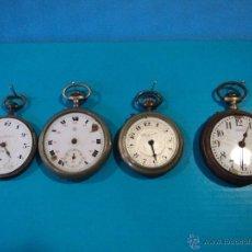 Relojes de bolsillo: LOTE DE 4 RELOJES DE BOLSILLO-PARA PIEZAS-REPUESTOS O RESTAURAR-LEER DISCRIPCION. Lote 47874933