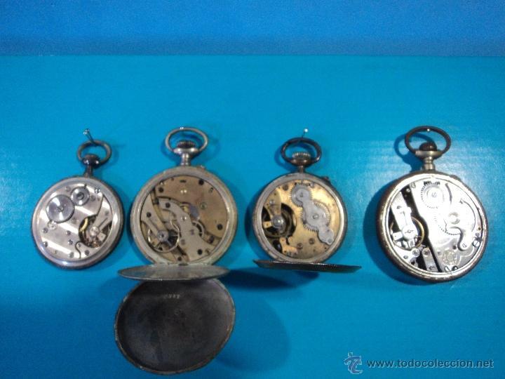 Relojes de bolsillo: LOTE DE 4 RELOJES DE BOLSILLO-PARA PIEZAS-REPUESTOS O RESTAURAR-LEER DISCRIPCION - Foto 6 - 47874933