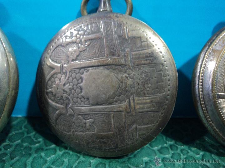 Relojes de bolsillo: LOTE DE 4 RELOJES DE BOLSILLO-PARA PIEZAS-REPUESTOS O RESTAURAR-LEER DISCRIPCION - Foto 9 - 47874933