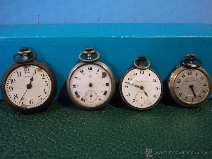 Relojes de bolsillo: LOTE DE 4 RELOJES DE BOLSILLO-PARA PIEZAS-REPUESTOS O RESTAURAR-LEER DISCRIPCION - Foto 12 - 47874933