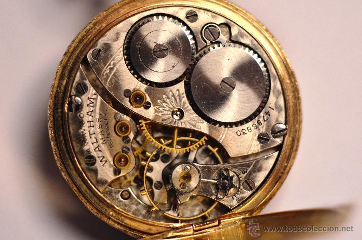 Waltham Mujer De Cazador Subasta Reloj En 14k Vendido Bolsillo Oro 5LRj4A