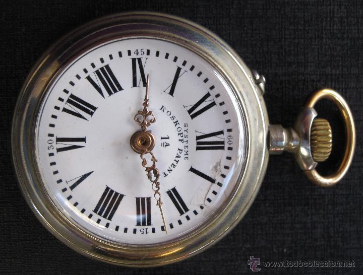 Relojes de bolsillo: DOS PRECIOSOS RELOJES BOLSILLO BUEN ESTADO FUNCIONANDO ROSKOPF Y PAUL HEMMELER - Foto 2 - 48463908