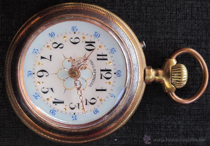 Relojes de bolsillo: DOS PRECIOSOS RELOJES BOLSILLO BUEN ESTADO FUNCIONANDO ROSKOPF Y PAUL HEMMELER - Foto 3 - 48463908
