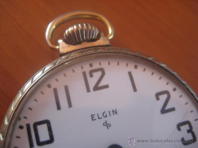 Relojes de bolsillo: BONITO RELOJ DE BOLSILLO MARCA ELGIN CALIBRE 574 DE 17 JOYAS CHAPADO EN ORO, FUNCIONANDO - Foto 10 - 48741342