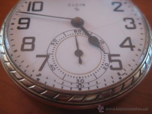Relojes de bolsillo: BONITO RELOJ DE BOLSILLO MARCA ELGIN CALIBRE 574 DE 17 JOYAS CHAPADO EN ORO, FUNCIONANDO - Foto 16 - 48741342