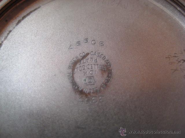 Relojes de bolsillo: BONITO RELOJ DE BOLSILLO MARCA ELGIN CALIBRE 574 DE 17 JOYAS CHAPADO EN ORO, FUNCIONANDO - Foto 19 - 48741342