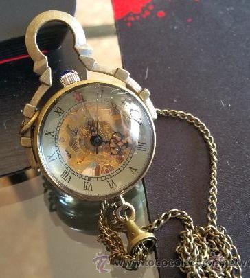Relojes de bolsillo: CURIOSO RELOJ DE BOLA DE CRISTAL,MAQUINARIA ESQUELETO,FUNCIONANDO - Foto 2 - 49223896