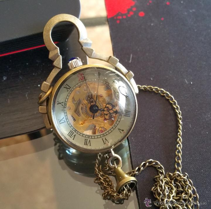 Relojes de bolsillo: CURIOSO RELOJ DE BOLA DE CRISTAL,MAQUINARIA ESQUELETO,FUNCIONANDO - Foto 8 - 49223896