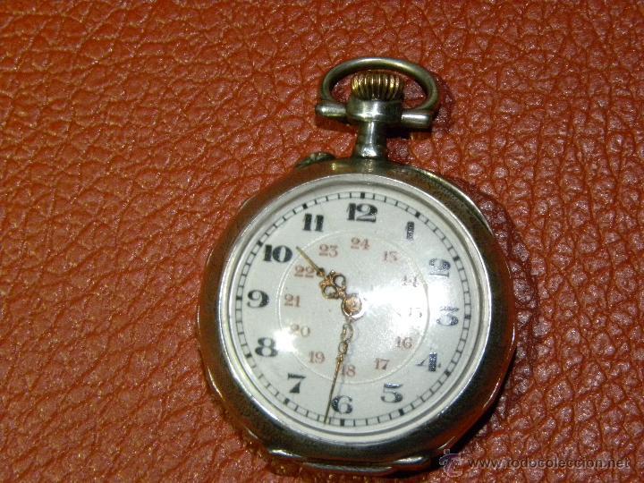 BONITO RELOJ DE MONJA CON CAJA DE PLATA - FUNCIONA PERFECTAMENTE (Relojes - Bolsillo Carga Manual)