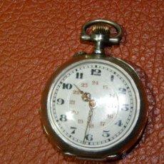 Relojes de bolsillo: BONITO RELOJ DE MONJA CON CAJA DE PLATA - FUNCIONA PERFECTAMENTE. Lote 49168601