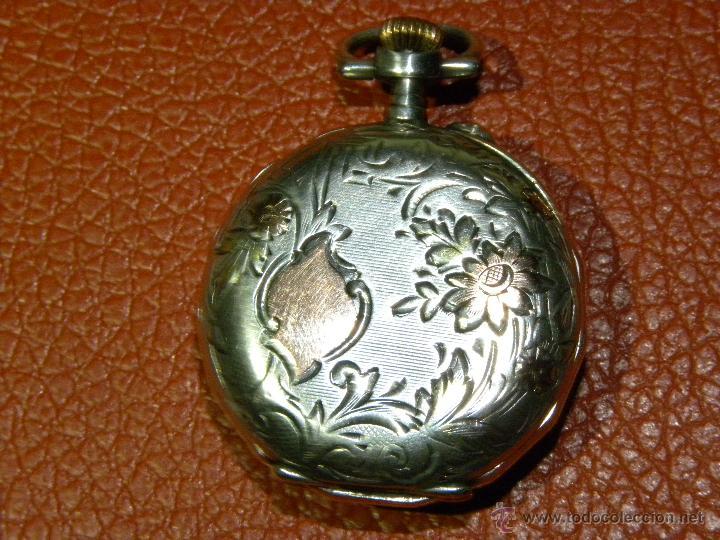 Relojes de bolsillo: Bonito Reloj de Monja con caja de Plata - Funciona perfectamente - Foto 2 - 49168601