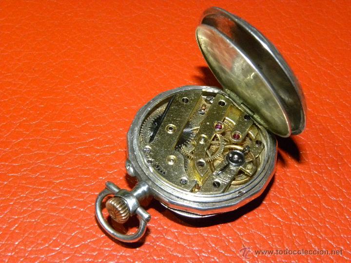 Relojes de bolsillo: Bonito Reloj de Monja con caja de Plata - Funciona perfectamente - Foto 5 - 49168601