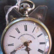 Relojes de bolsillo: RELOJ DE BOLSILLO ROSSKOPF FREES PATENT. ESFERA TOCADA. FUNCIONANDO. 5 CMS. DIÁMETRO.. Lote 49226157