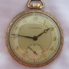 Relojes de bolsillo: RELOJ DE BOLSILLO ANTIGUO SOLAR BIRKDALE CHAPADO EN ORO. Lote 49358625