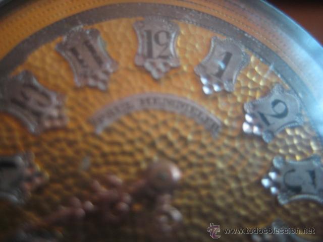 Relojes de bolsillo: PRECIOSO RELOJ SUIZO PAUL HEMMELER DE ESFERA DORADA Y NUMERACION EN PLETINAS, DATA DE 1890, FUNCIONA - Foto 7 - 49434946