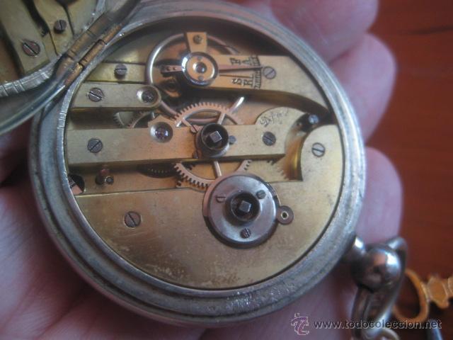 Relojes de bolsillo: PRECIOSO RELOJ SUIZO PAUL HEMMELER DE ESFERA DORADA Y NUMERACION EN PLETINAS, DATA DE 1890, FUNCIONA - Foto 17 - 49434946