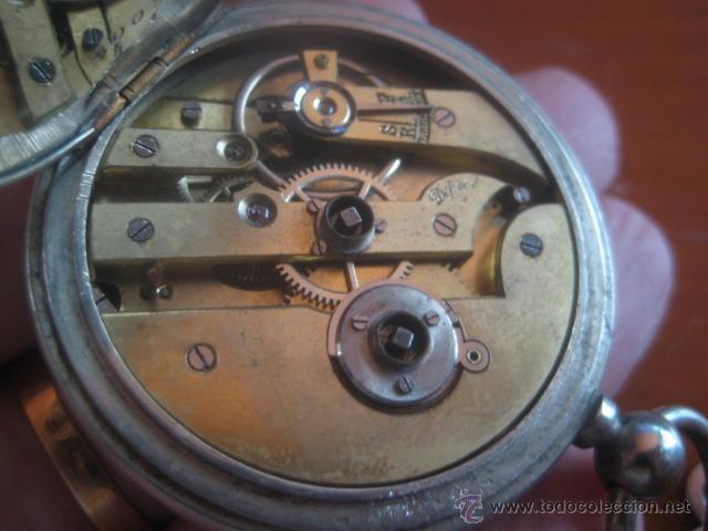 Relojes de bolsillo: PRECIOSO RELOJ SUIZO PAUL HEMMELER DE ESFERA DORADA Y NUMERACION EN PLETINAS, DATA DE 1890, FUNCIONA - Foto 18 - 49434946
