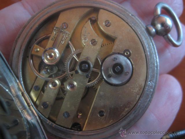 Relojes de bolsillo: PRECIOSO RELOJ SUIZO PAUL HEMMELER DE ESFERA DORADA Y NUMERACION EN PLETINAS, DATA DE 1890, FUNCIONA - Foto 19 - 49434946