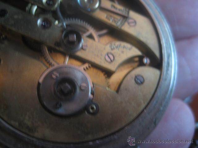 Relojes de bolsillo: PRECIOSO RELOJ SUIZO PAUL HEMMELER DE ESFERA DORADA Y NUMERACION EN PLETINAS, DATA DE 1890, FUNCIONA - Foto 20 - 49434946