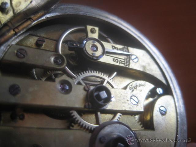 Relojes de bolsillo: PRECIOSO RELOJ SUIZO PAUL HEMMELER DE ESFERA DORADA Y NUMERACION EN PLETINAS, DATA DE 1890, FUNCIONA - Foto 21 - 49434946