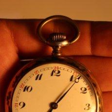 Relojes de bolsillo: RELOJ DE BOLSILLO PLATA 0.800 CAJA DECORADA FUNCIONANDO. Lote 49436037