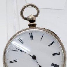Relojes de bolsillo: RELOJ BOLSILLO PLATA S XIX ESTADO DE MARCHA. Lote 49450453