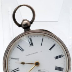Relojes de bolsillo: RELOJ BOLSILLO PLATA FARRINGDON WALTHAM MASS S XIX. Lote 49451017