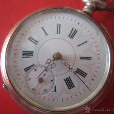 Relojes de bolsillo: RELOJ ANTIGUO DE BOLSILLO REMONTOIR CON CAJA DE PLATA. Lote 49723819