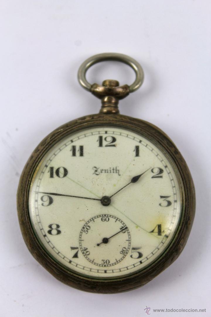 RELOJ DE BOLSILLO ZENITH GRAN PRIZ PARIS 1900. DOUBLE PLATEAU 15 RUBIS.  PLATA 0 7cd0629aa7cf