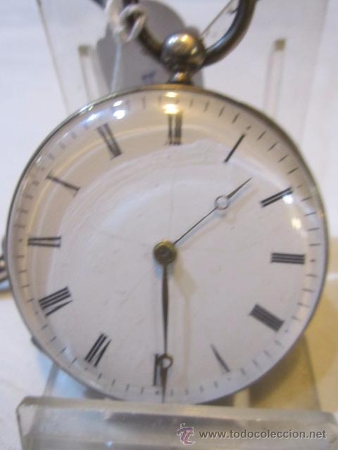 Relojes de bolsillo: Antiguo reloj de bolsillo de plata. Funcionando. 44 mm. diámetro. - Foto 2 - 49919936